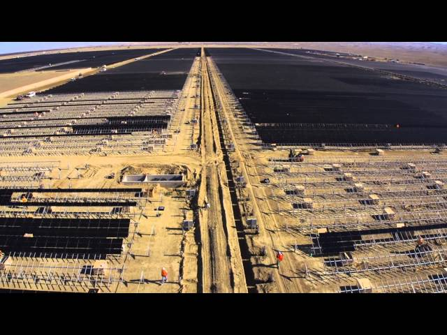 Topaz Solar Farms Construction Site - It's The Biggest Solar Plant In The World