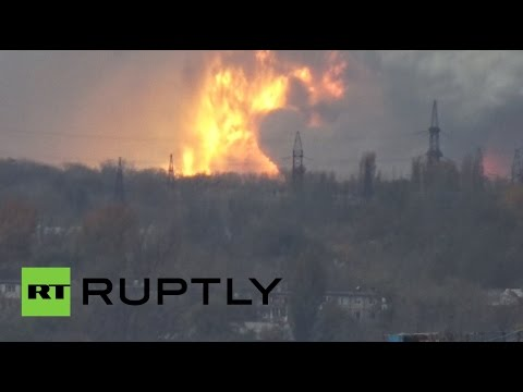 blast - A huge explosion was seen in Donetsk on Monday. Early reports indicate that the explosion was caused by either a ballistic missile or by a shell hitting a local TNT and chemical plant. The...
