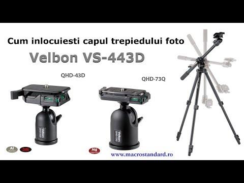 Cum inlocuiesti capul trepiedului foto Velbon VS-443D