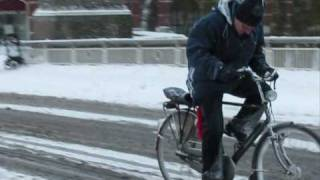 s-Hertogenbosch Netherlands  city pictures gallery : Cycling in the snow; 's-Hertogenbosch, Netherlands