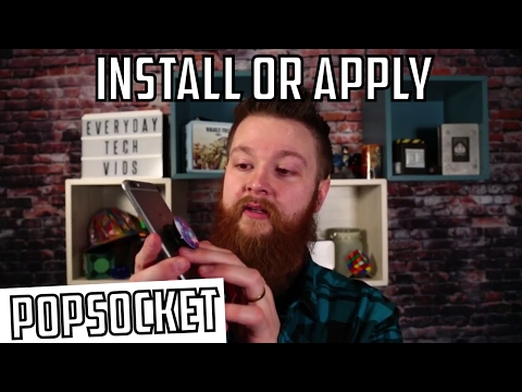 PopSocket How to Install or Apply (видео)
