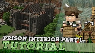 Minecraft Tutorial: Medieval Prison Interior! Part 1/3