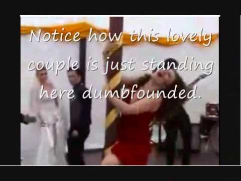 Pole dance ruins wedding (proof of fake) You decide