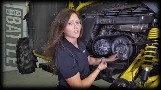 9. How to replace/change drive belt on Can-Am Defender| Maintenance Matters | SuperATV