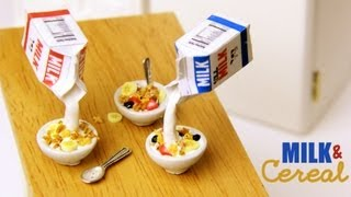 Milk & Cereal - Clay Breakfast Tutorial - YouTube