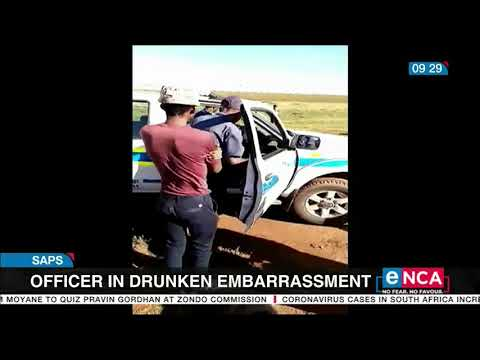 SAPS reacts to seemingly drunk officer