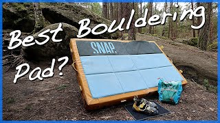 Snap Pad Guts review - Bouldering Pad by The Climbing Nomads