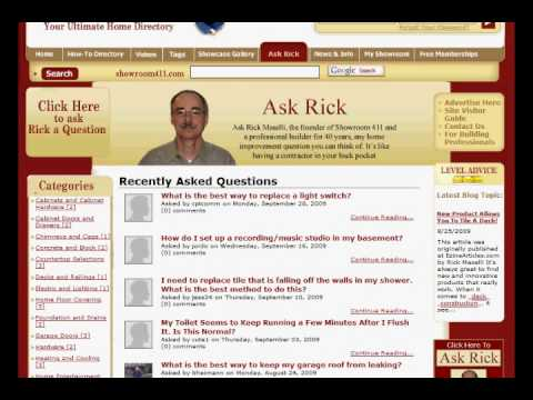 Home Owners Can Ask Rick the Contractor any DIY Home Improvement Question and Get a Professional Answer and Advice for F…