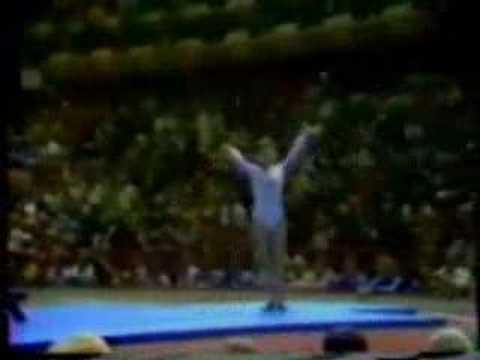 Comaneci scores a perfect 10.0