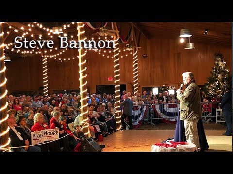 Steve Bannon Fiery Speech for Roy Moore in Alabama 12/5/2017