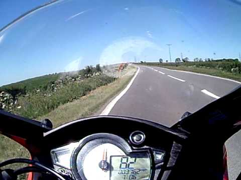 RS3 125 on board 85 MPH 137 KMph 125 sports bike Rieju made in spain