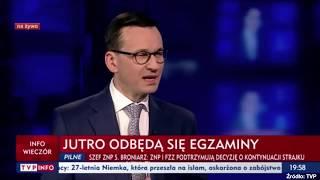"""Morawiecki: """"Stan finansów publicznych na pewno nie pozwala na żadne dodatkowe ustępstwa."""""""