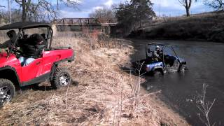 7. Massimo 1100cc UTV pulling 700cc Turbo Hisun out of water *Kelley Motorsports LLC*
