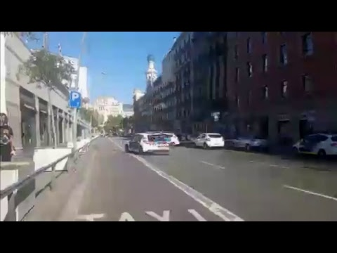 LIVE: CAUTION Van PLOWS INTO pedestrians in Barcelona, Spain