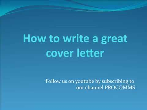 winning cover letter this video tutorial will help you with cover letter tips on how to write a great cover letter that will help you get a shot at