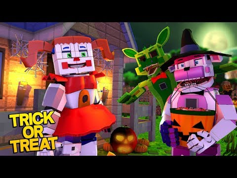 Minecraft Fnaf: Sister Location Trick Or Treating At The Pizza Place (Minecraft Roleplay) (видео)