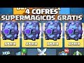 ABRO 4 COFRES SUPERMAGICOS GRATIS + COFRE DE ELECCION - CLASH ROYALE Y LA MAYOR COLECCION DEL MUNDO