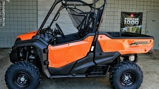 8. 2016 Honda Pioneer 1000 EPS Orange - Start Up & Walk Around   Side by Side ATV / UTV / (SXS10M3PG)