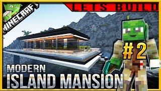 Minecraft 1.9 Modern Island Mansion Let's build (Jedi Mansion 3) E02 (water feature)