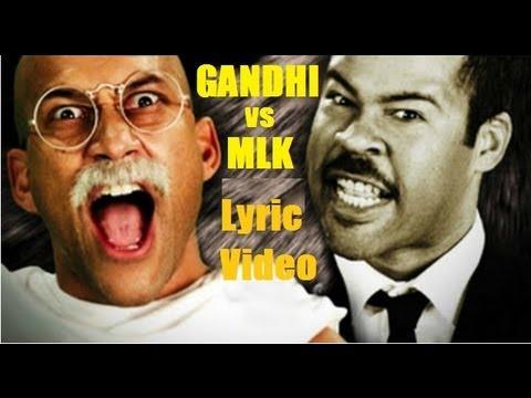Martin Luther King vs Gandhi - Lyric Video. Epic Rap Battles Of History Season 2.