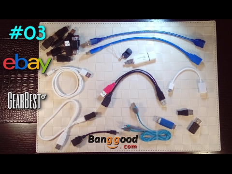 (Μega) Unboxing Cool and Cheap stuff from ebay (+ GB, BG) #03 - Essential USB adapters