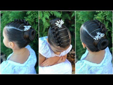 Peinado Elegante Para Ninas Con Trenza Pull Through Y Chongo