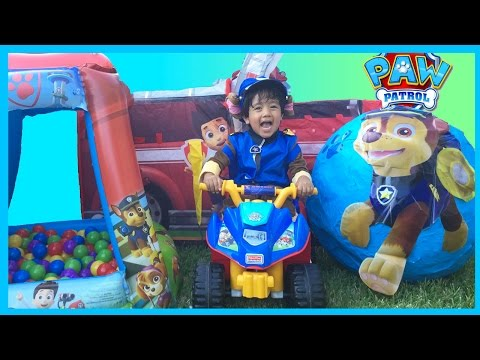 PAW PATROL TOYS GIANT EGG SURPRISE OPENING For Kids