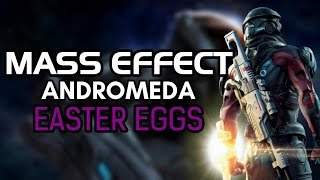 Mass Effect Andromeda has some pretty decent Easter Eggs and I'm Loving it… My overall review of it not that anyone cares would be an 8.5 and a 9 if it didn't have some of the technical problems but anyway…Hope you enjoy.Star Wars All Fine Here Scene: https://www.youtube.com/watch?v=3bjEpLoL0lsSubscribe and Hit the Notification Bell to Keep up to Date with When I Upload!►Subscribe to me here!: http://www.youtube.com/subscription_c…►Follow me on Instagram: https://www.instagram.com/o_knightz_o/ ►Check out Other Easter Egg Here!: https://www.youtube.com/playlist?list=PLud5z0-p8XHghQADyX6zBUkw12elgapjuMass Effect: Andromeda is an action role-playing video game developed by BioWare and published by Electronic Arts for PlayStation 4, Xbox One and Microsoft Windows. The game was released worldwide in March 2017. It is the fourth entry overall in the Mass Effect series and the first since Mass Effect 3. The game begins within the Milky Way Galaxy during the 22nd century, where humanity is planning to populate new home worlds in the Andromeda Galaxy as part of a strategy called the Andromeda Initiative. The player assumes the role of either Scott or Sara Ryder, an inexperienced military recruit who joins the Initiative and wakes up in Andromeda following a 600-year journey.Mass Effect: Andromeda is an action role-playing game in which the player takes control of either Scott or Sara Ryder from a third-person perspective. Both Ryders' appearances and first names can be determined by the player. The appearance of their father, Alec, is automatically adjusted based on the appearance of the Ryder twins. Upon beating the game, a New Game+ is unlocked, which allows the player to restart the game with certain bonuses and switch to playing as the other Ryder, if desired. Players can also choose to continue playing with their existing character and complete unfinished missions.Unlike previous installments in the Mass Effect series, where players begin each new game by choosing from 