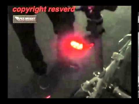 Zadní laserové světlo na kolo