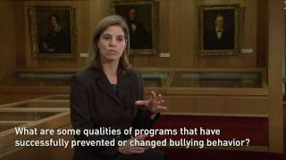 "Working Toward a ""Bullying is Wrong"" Culture: What Researchers, Parents and Schools Can Do - 11/4/2011"