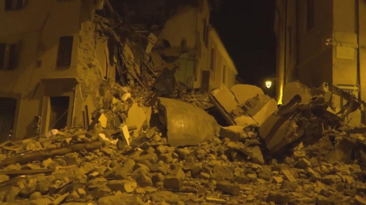 Ένας νεκρός από ανακοπή καρδιάς λόγω των σεισμών στην κεντρική Ιταλία