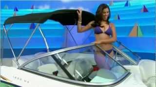 Gwendolyn Osborne in a Blue bikini.