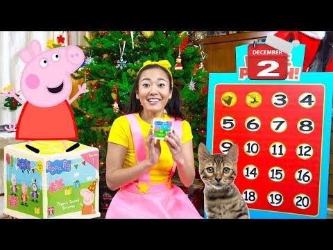 Advent Calendar Day 2 Peppa Pig Secret Surprise Toy Unboxing  Ellie Sparkles Christmas Countdown
