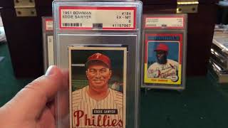 Five newly acquired Bowman 1951 PSA Cards along with a HOF'er