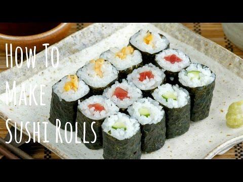 How To Make Sushi Rolls (Hosomaki) (Recipe) 細巻きの作り方 (レシピ)