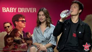 Video Lily James and Ansel Elgort talk about his kissing skills in Baby Driver MP3, 3GP, MP4, WEBM, AVI, FLV Januari 2018