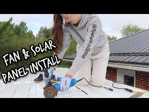 Fan & Solar Panel Install | DIY Van Build Episode 7