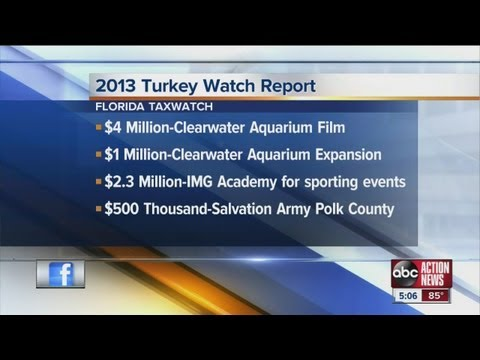 watchreport - The annual Florida TaxWatch Turkey Watch spotlights legislative projects placed in the budget without proper opportunity for public review and debate, which ...
