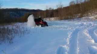 10. 2008 Can-am Outlander Max XT 650H.O. snow fun