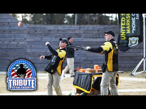tribute - WWE Superstars attend a skeet shooting demonstration with the U.S. Army Marksmanship Unit Shotgun Team.