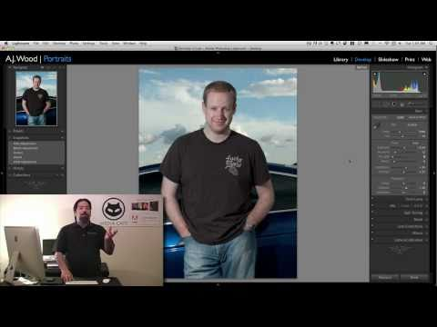 ajwood - In this tutorial, A.J. demonstrates how to use Lightroom to retouch a portrait image. Share this video, Tweet to your friends: http://bit.ly/lr3retouch1 Join...