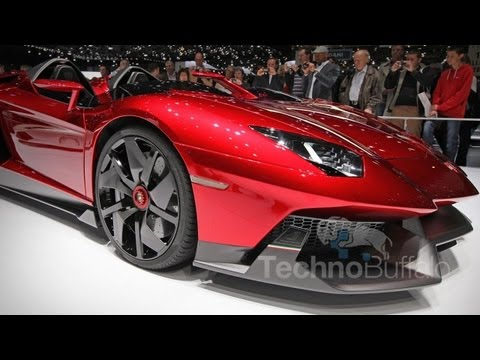 jon4lakers - Lamborghini Aventador J 1st Look! It's not often you get to touch a $2.8 million Lamborghini that lacks a windshield, but here in Geneva, Switzerland, Techno...