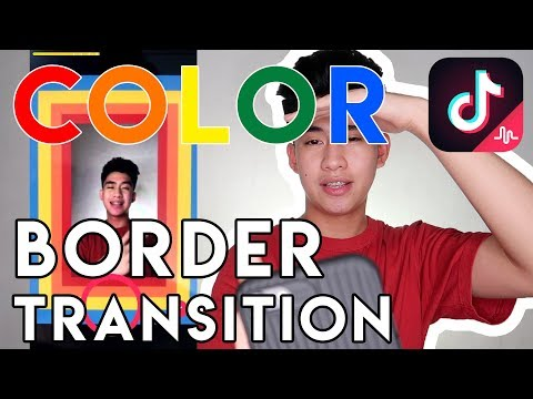 TIKTOK COLOR BORDER TRANSITION TUTORIAL | Duke De Castro