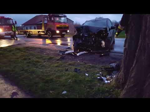 Wideo1: Wypadek w Gębicach