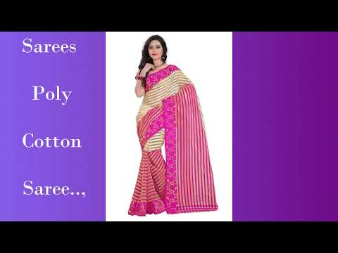499 Rs Shree Rajlaxmi Sarees Poly Cotton Saree With Running Blouse - Less Than Rs450