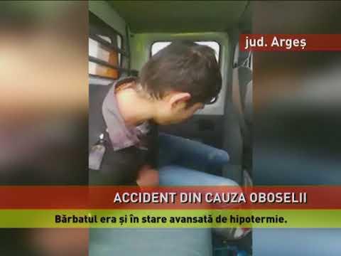 Accident cu un șofer care a adormit la volan