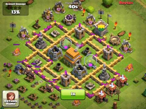 lvl - This video shows how a good Town Hall Level 6 defensive structure survives an average attack. This is attack 1. See other attacks: Attack 1: You Are Here Att...