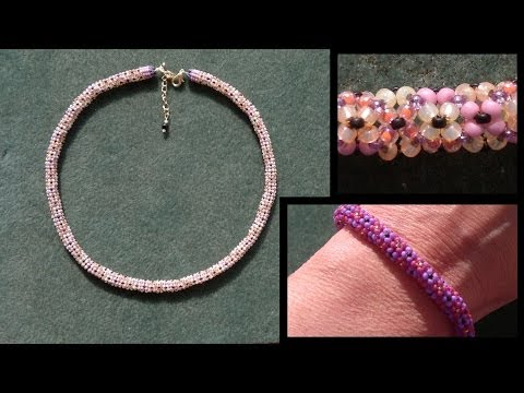 Beading4perfectionists :Stitch nr 14: Chenille stitch (necklace) beading tutorial