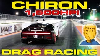 $3.4M Bugatti Chiron Almost Loses Control Drag Racing down the 1/4 Mile by DragTimes