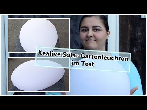 Kealive LED Solar Gartenleuchten Kugel und Kieselstein / Susi und Kay Projekte